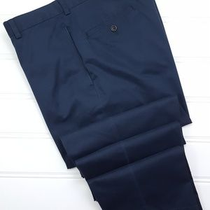 Brooks Brothers Blue Chinos 35x34 Flat Front Light